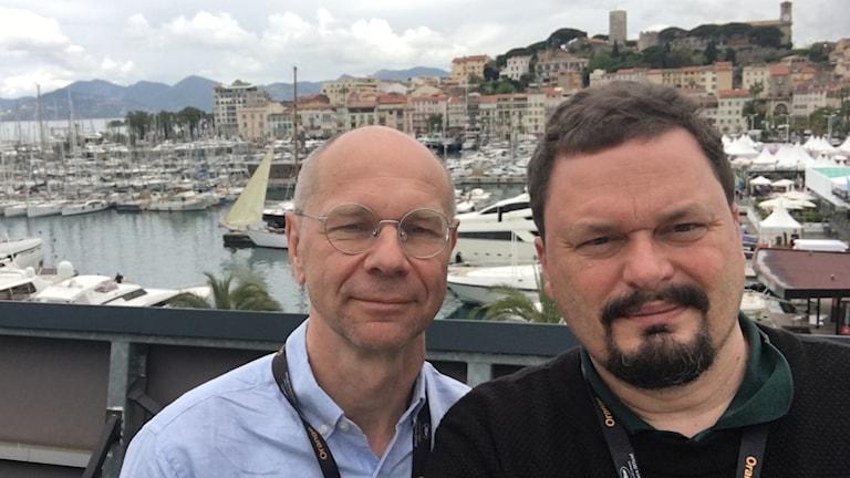 Roger Wilson och Björn Jansson i Cannes