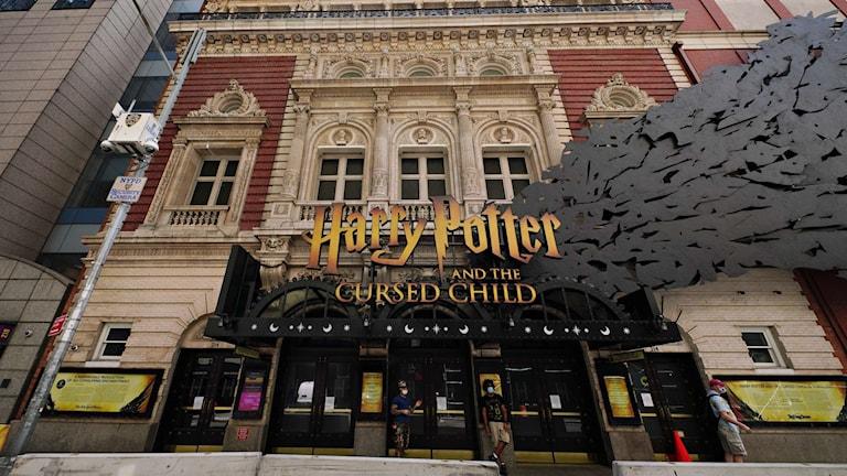 Bild från Broadways Harry Potter-uppsättning.