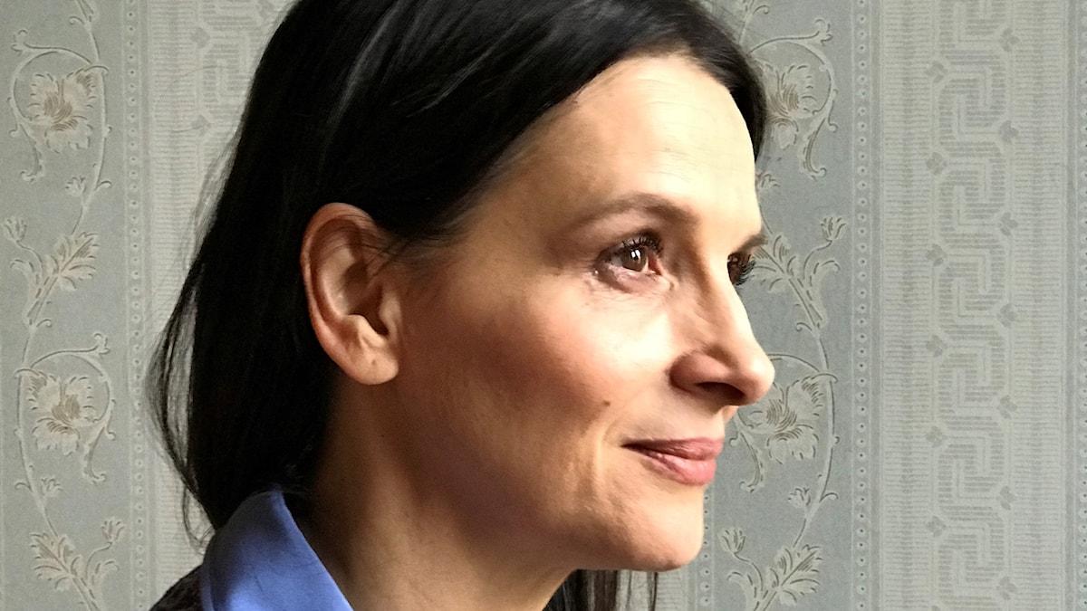 Juliette Binoche tar emot pris i Göteborg