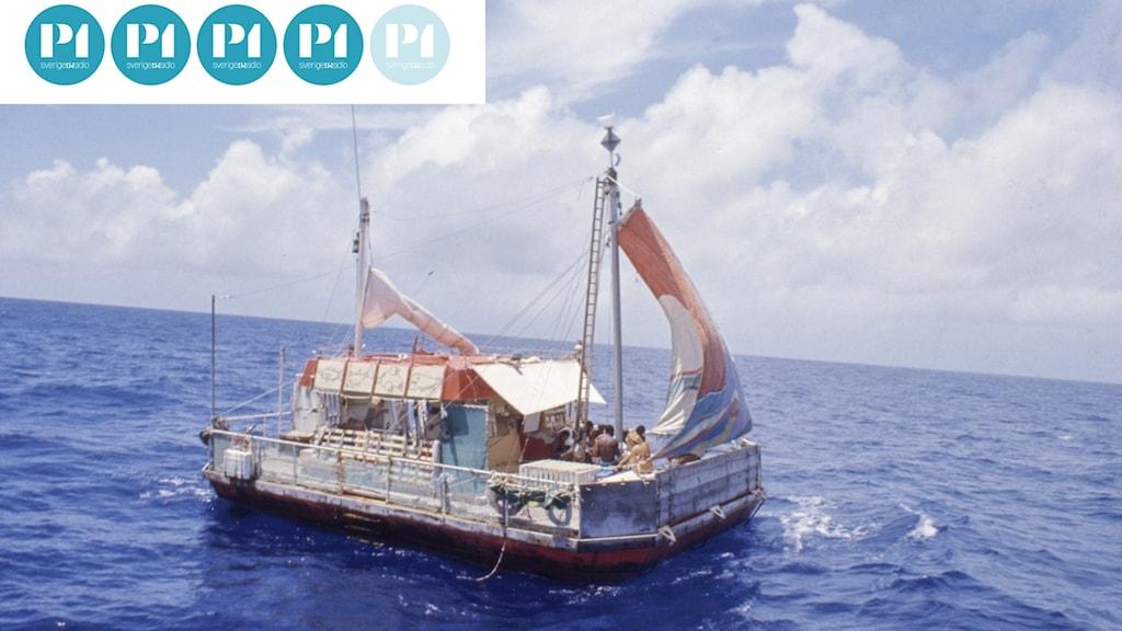 Flotten drev vind för våg med elva deltagare över Atlanten 1973.