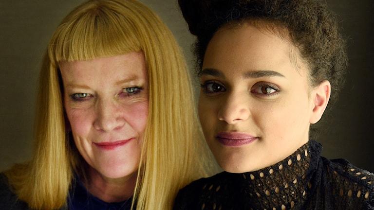 Regissören Andrea Honey och skådespelaren Sasha Lane från American Honey, september 2016