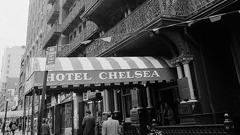 Chelsea hotels entré 1978. Foto G. Paul Burnett.