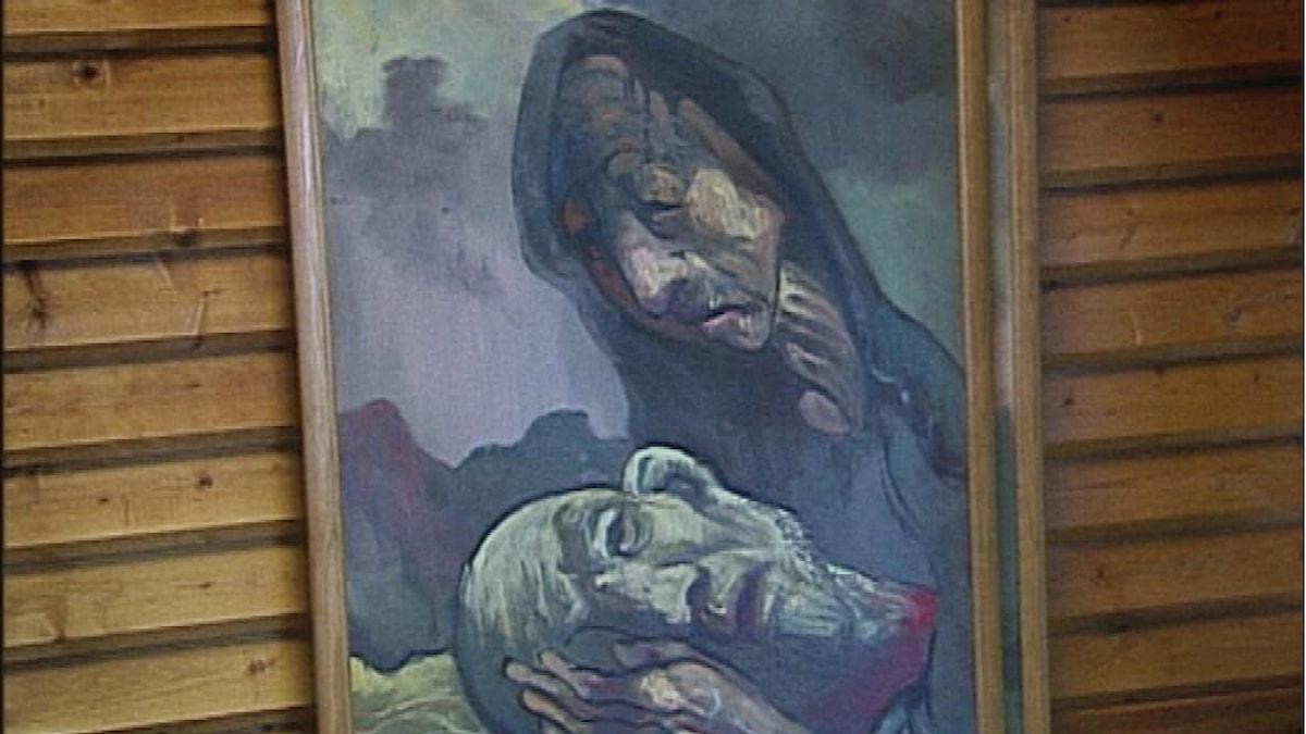 Goliats moder, en av Theo Forrers tavlor.