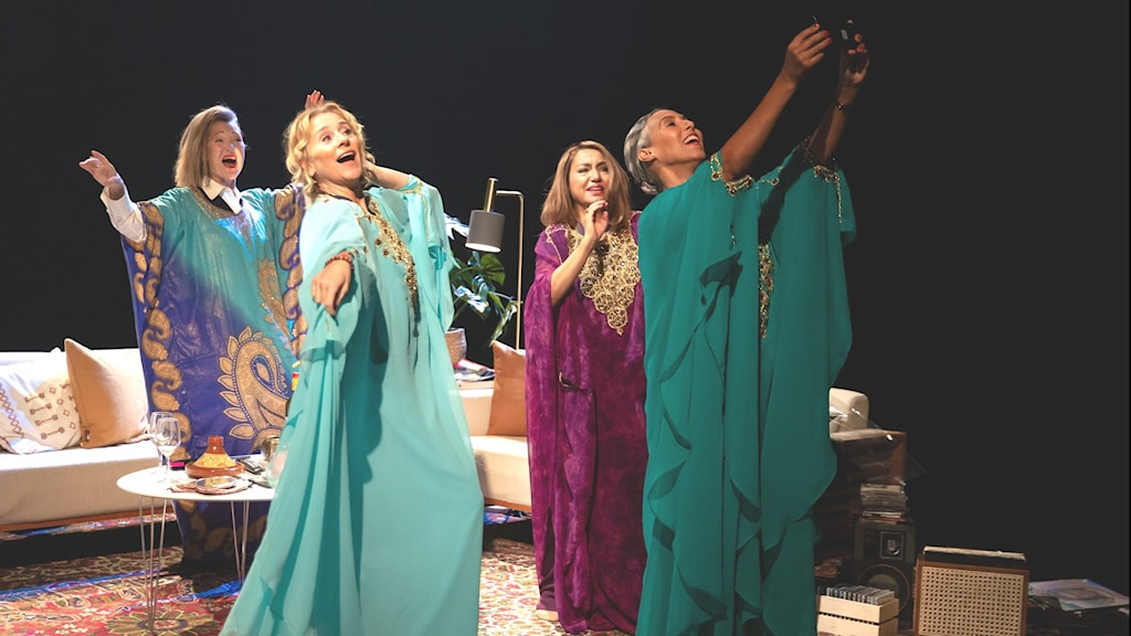 Anne Petrén, Sylvia Rauan, Maria Salah och Astrid Assefa i Lång natts färd mot dag
