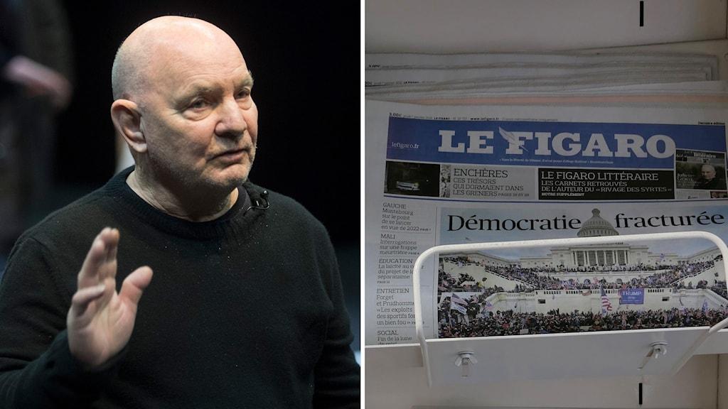 Lars Norén uppmärksammas bland annat i Le Figaro.
