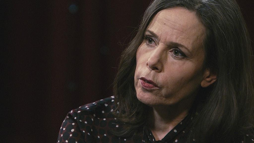 """I SVT:s Min sanning säger Sara Danius att """"om en akademiledamot beter sig klanderligt så kan den uteslutas"""" Foto: SVT"""