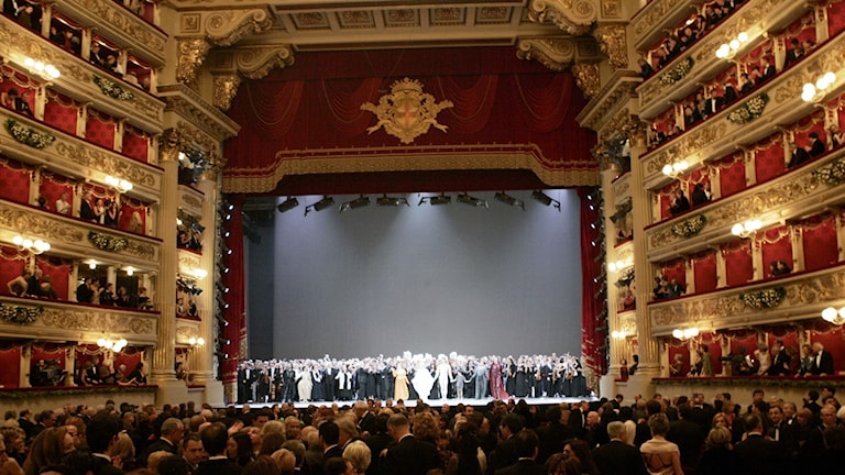 La Scalas salong i Milano.