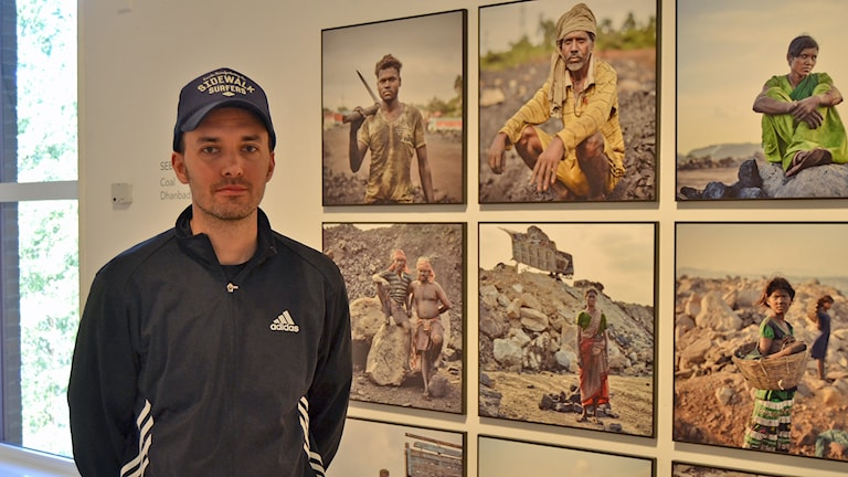 Fotografen Sebastian Sardi. Foto: Peter Öberg, Sveriges Radio.