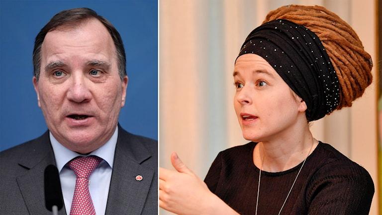 Statsminister Stefan Löfven och kulturminister Amanda Lind.