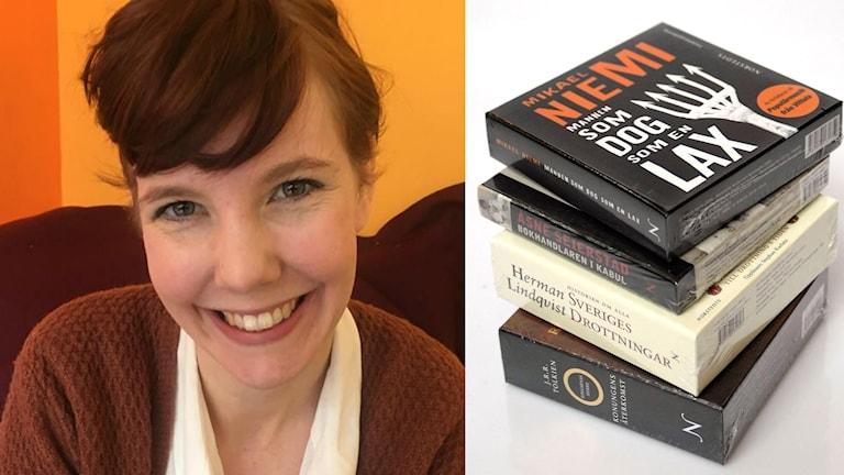 Julia Pennlert, litteraturvetare vid Bibliotekshögskolan vid Högskolan i Borås och några ljudböcker.