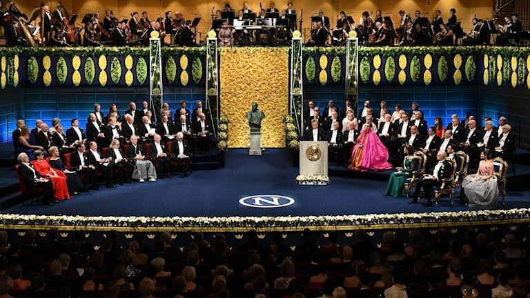 Nobelceremoni i Konserthuset