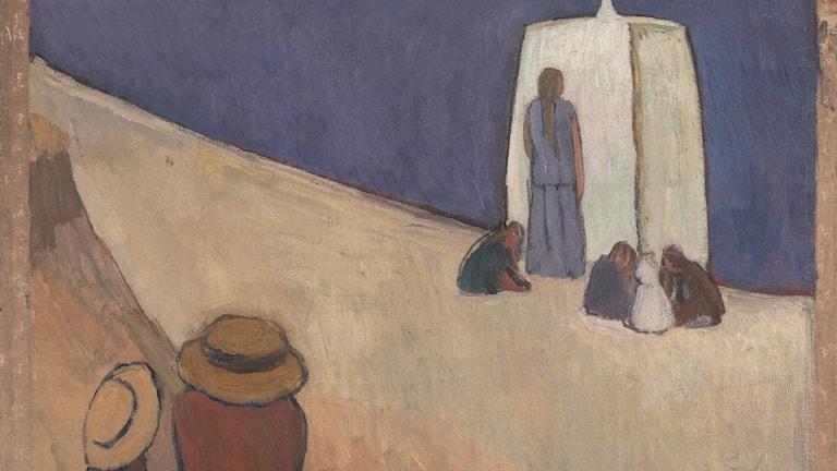 Målningen Studland Beach av Vanessa Bell