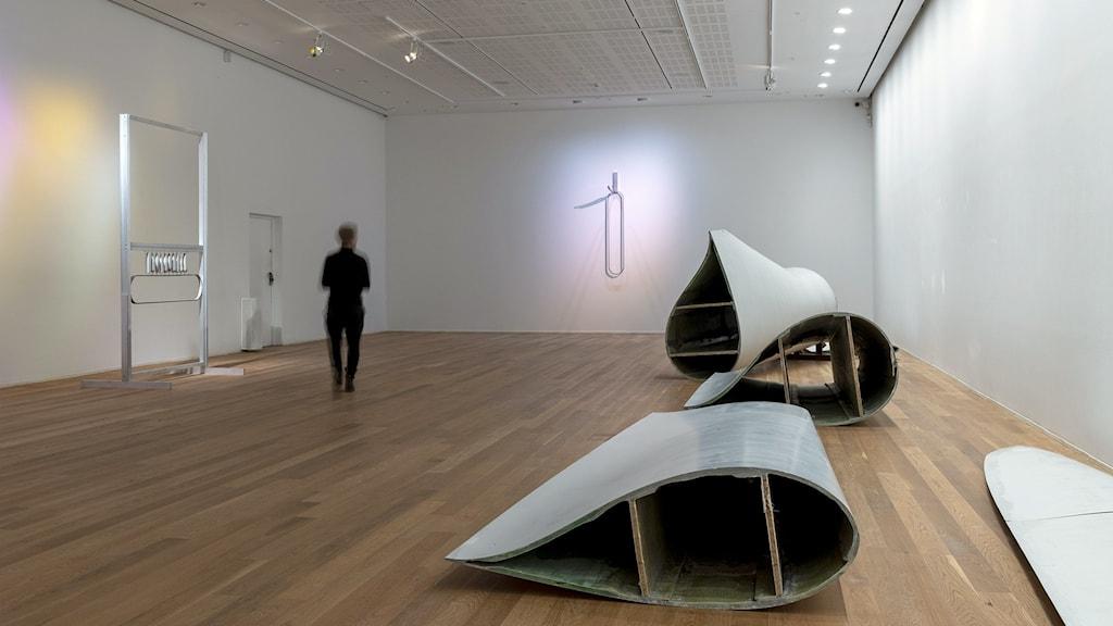 Blottad: Lea Porsager på Moderna museet i Stockholm