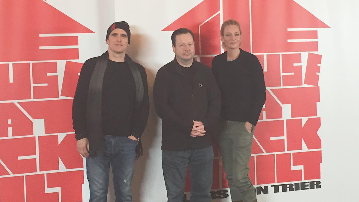Matt Dillon, Lars von Trier och Uma Thurman.