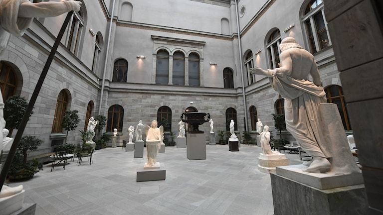 Nationalmuseum i Stockholm står tomt.