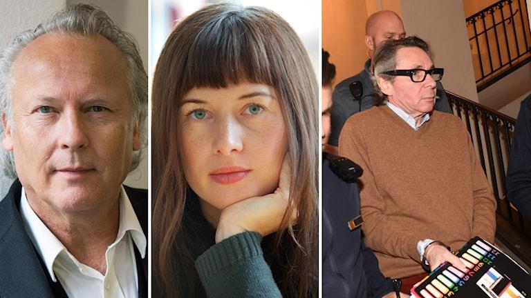 Klas Östergren, Anna Kölén och Jean-Claude Arnault.