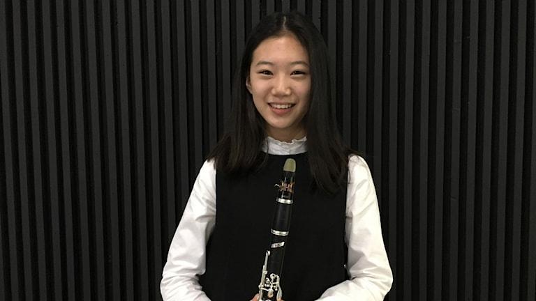 Klarinettisten Lee Hyun Bin är 15 år och tävlar i sitt instrument.