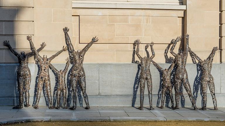 "Installation av Freddy Tsimba: ""Centres fermés, rêves ouverts"" © RMCA, Tervuren"