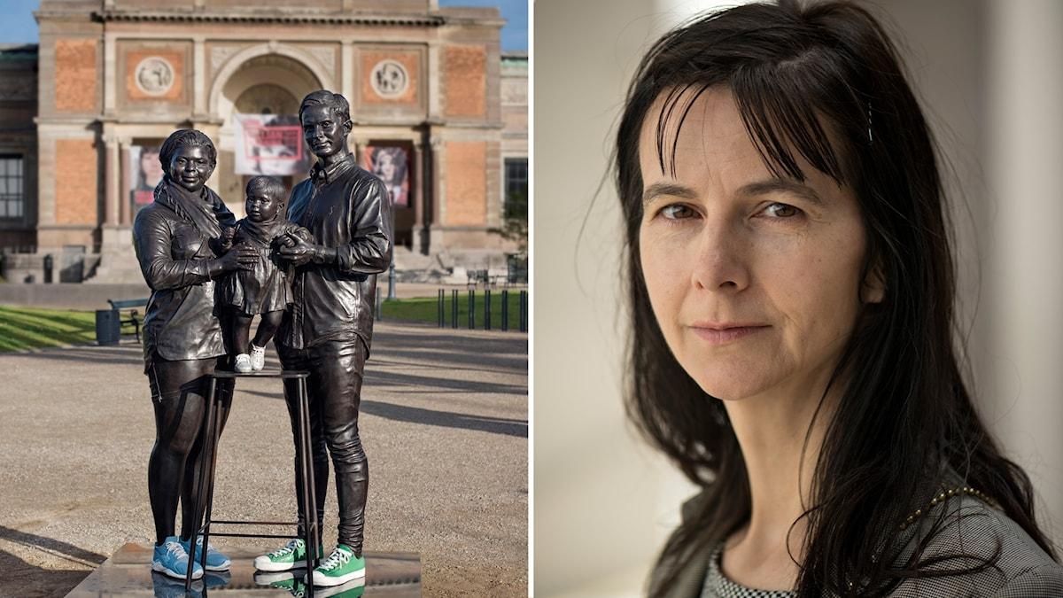 """Skulpturen """"En riktig dansk familj"""" av brittiska konstnären Gillian Wearing."""