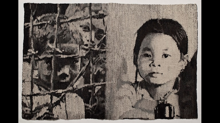 Maria Adlercreutz, Siblings, 1974, textile fabric.