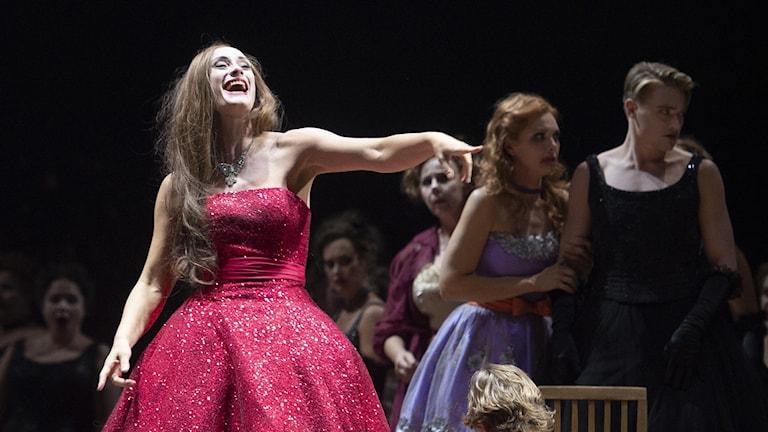 Agneta Eichenholz som Grete i Der ferne Klang av Schreker på Kungliga operan