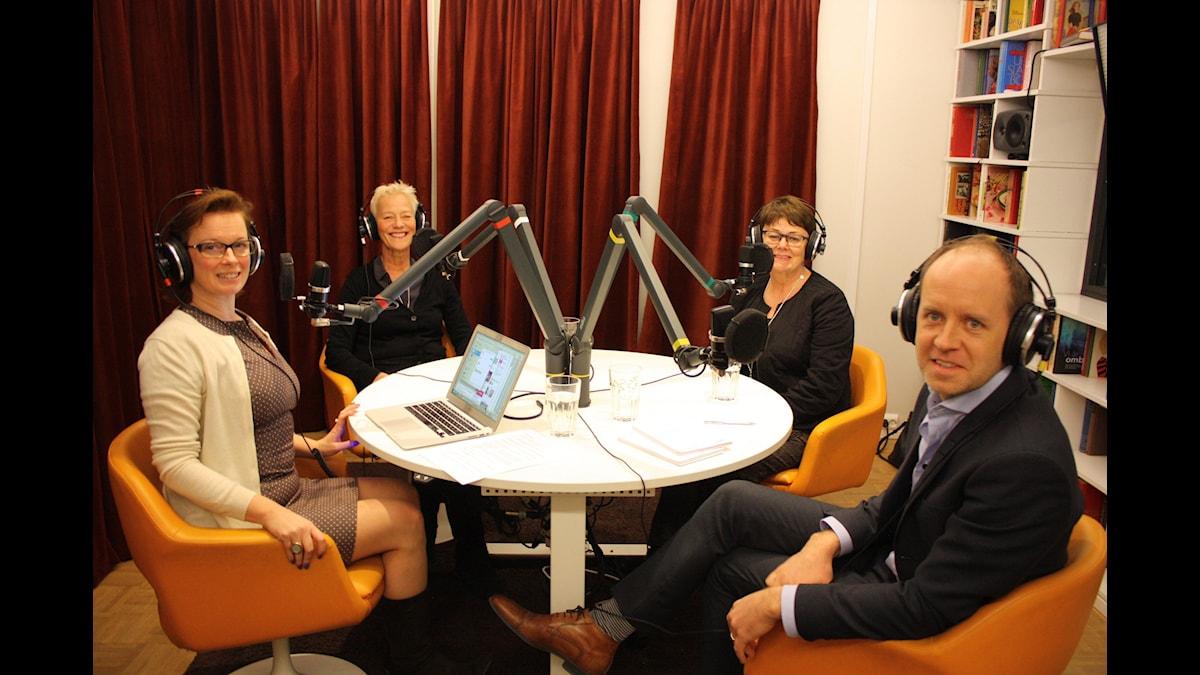 Camilla Wagner, Anna Wahl, Annika Elias och Thomas Ekman. Foto: Anna Iversen