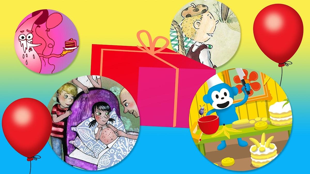 Födelsedagspaketet för 3-8-åringar.