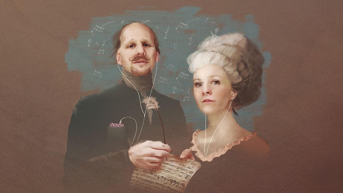 Mattias Lundberg och Esmeralda Moberg.