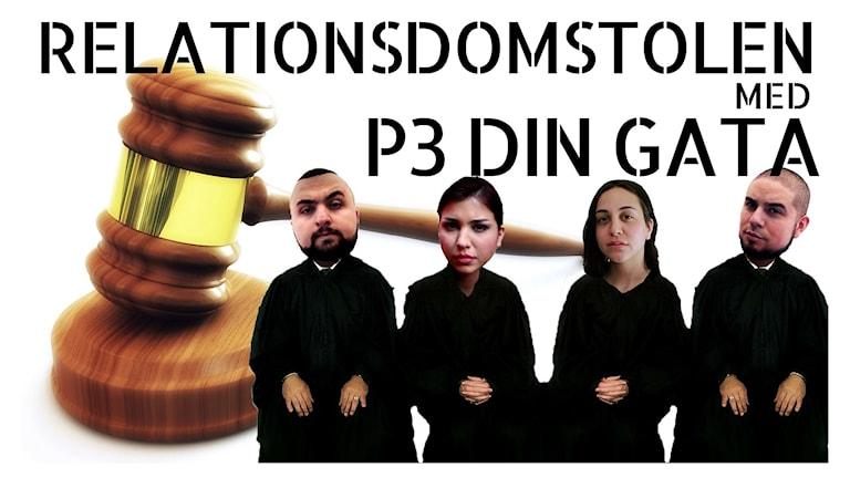 Programbild för Relationsdomstolen med P3 Din Gata