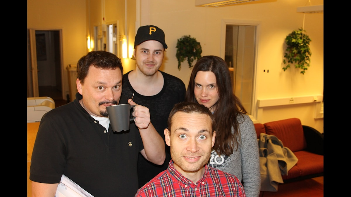 Roger Wilson, Tobias Norström, Maria Brander och Jesper Rönndahl. Foto: Anna-Karin Ivarsson/SR.