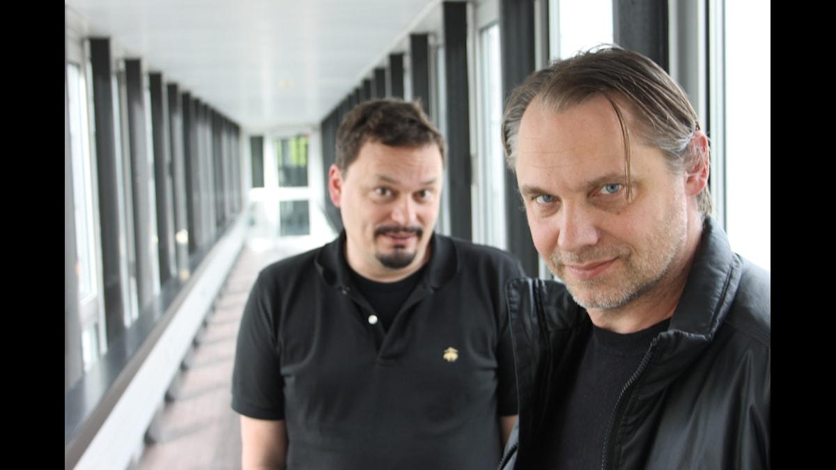 Roger Wilson och Marttias Andersson. Foto: Anna-Karin Ivarsson/SR.