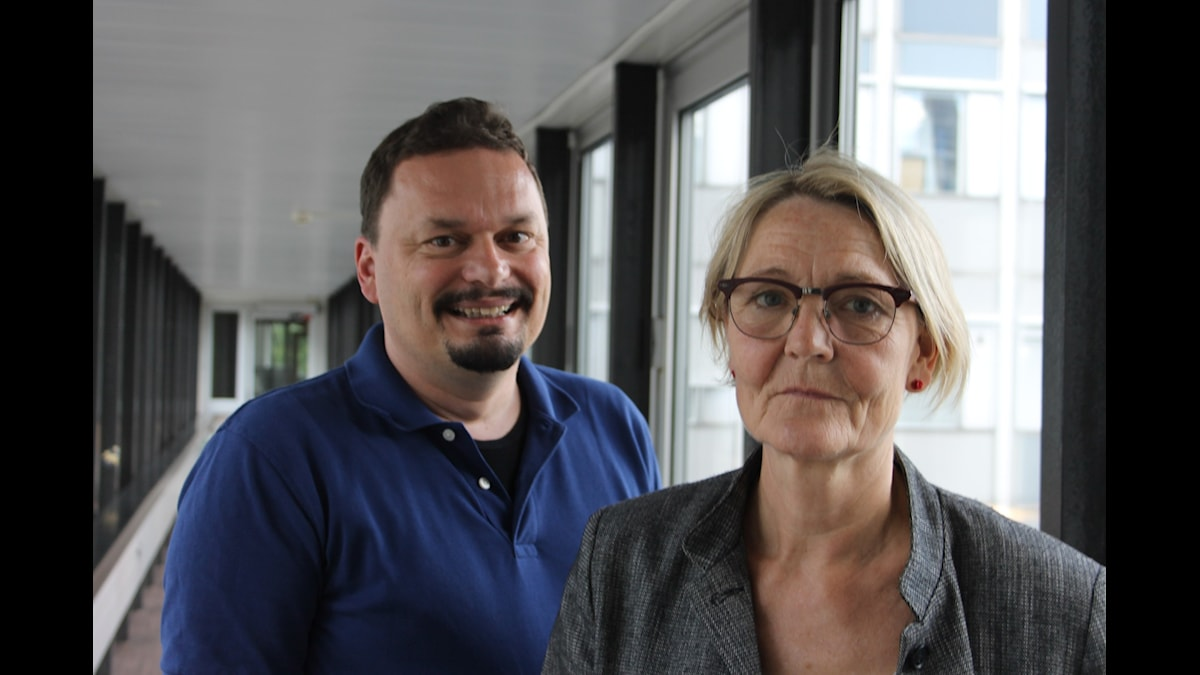 Roger Wilson och Ann Petrén. Foto: Anna-Karin Ivarsson/Sveriges Radio.