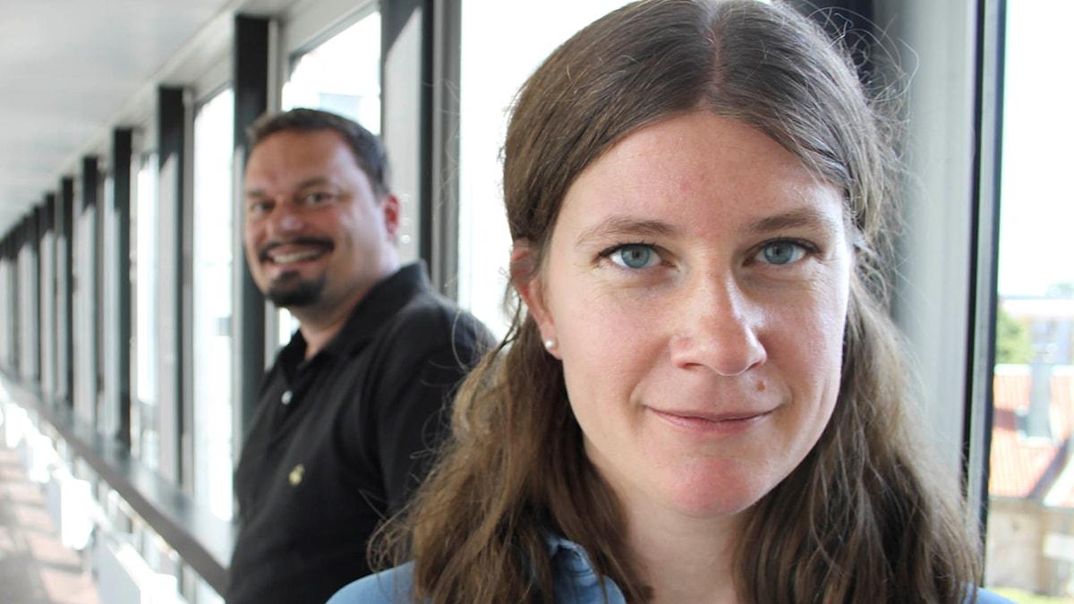 Roger Wilson och Ellen Lamm. Foto: Anna-Karin Ivarsson/Sveriges Radio.
