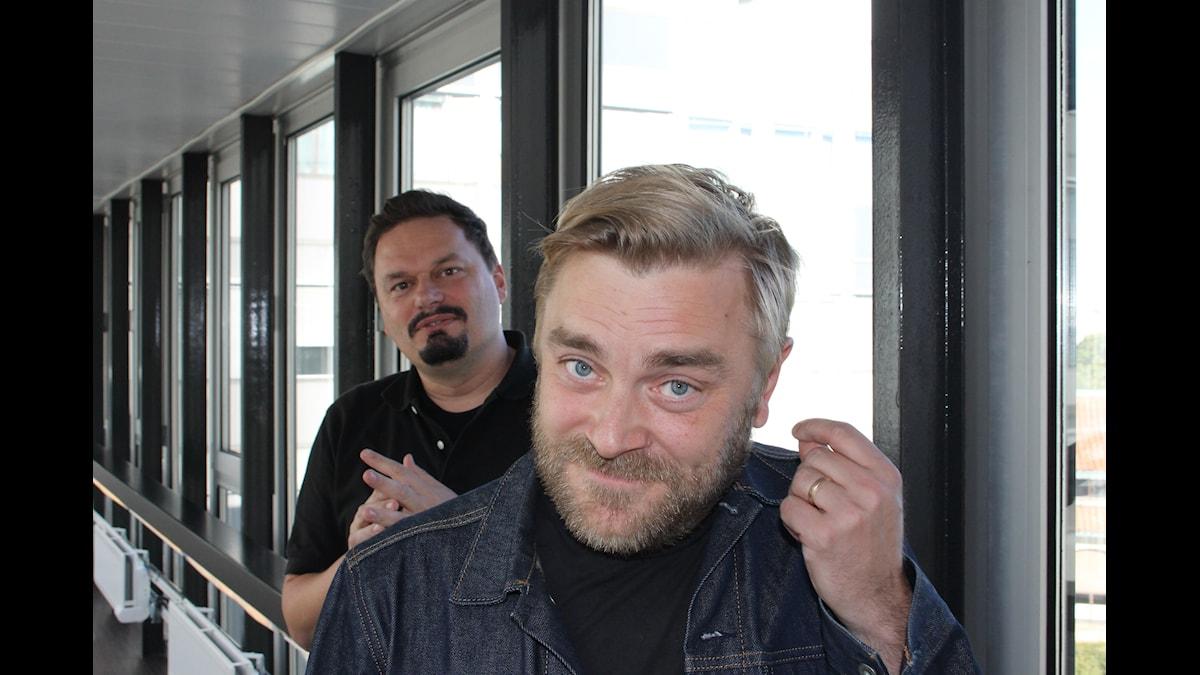 Roger Wilson och Lucas Svensson. Foto: Anna-Karin Ivarsson/Sveriges Radio.