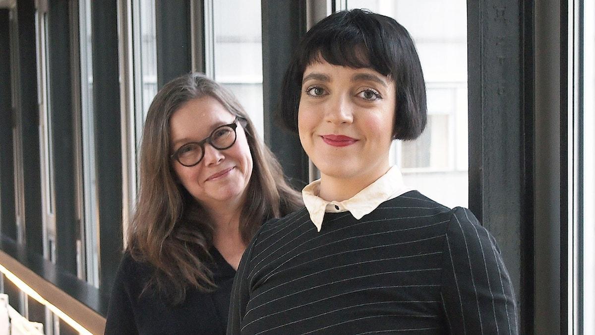 Anneli Dufva och Shima Niavarani. Foto: Henrietta Hultén/Sveriges Radio