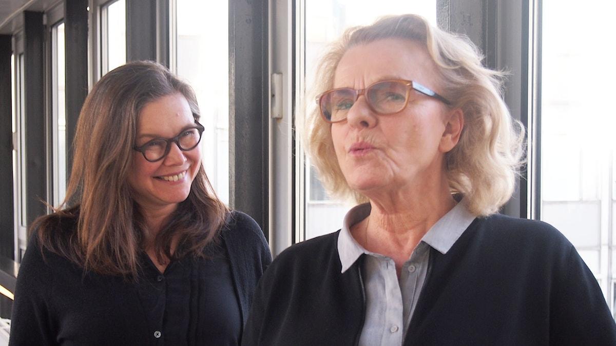 Anneli Dufva och Marie Göranzon
