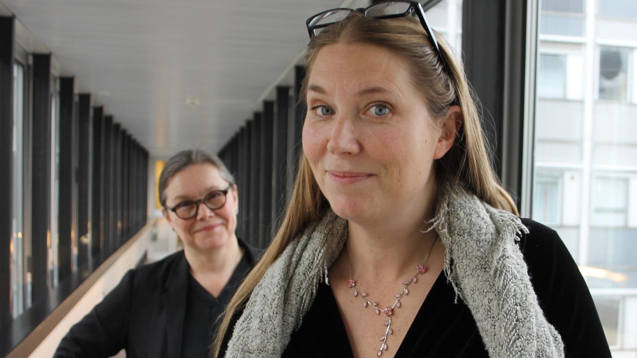 Anneli Dufva och Anna Pettersson.