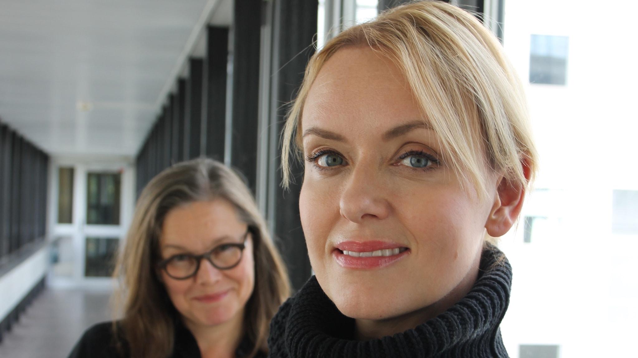 Anneli Dufva och Livia Millhagen.
