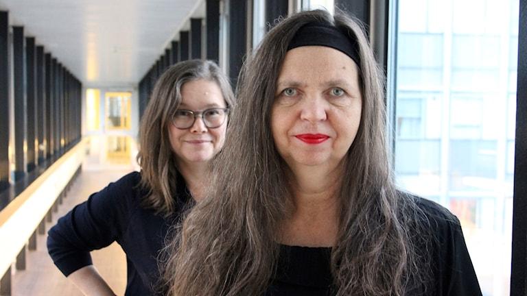 Anneli Dufva och Birgitta Egerbladh.