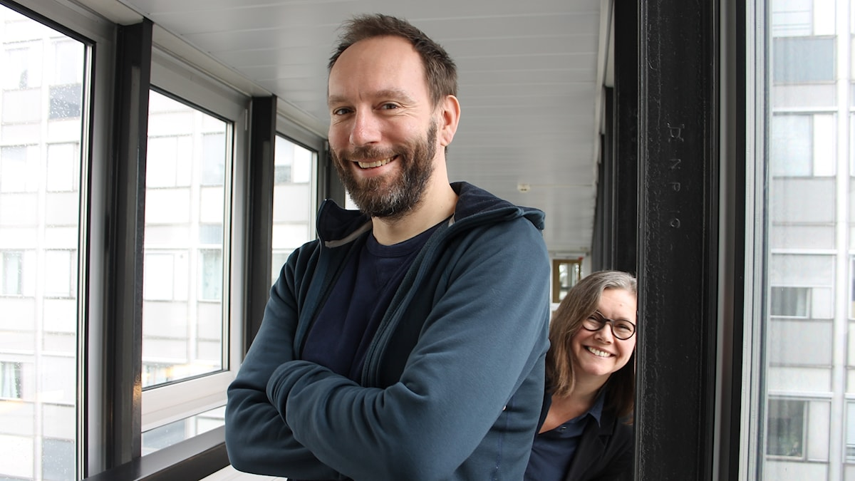 Alexander Mørk-Eidem och Anneli Dufva.