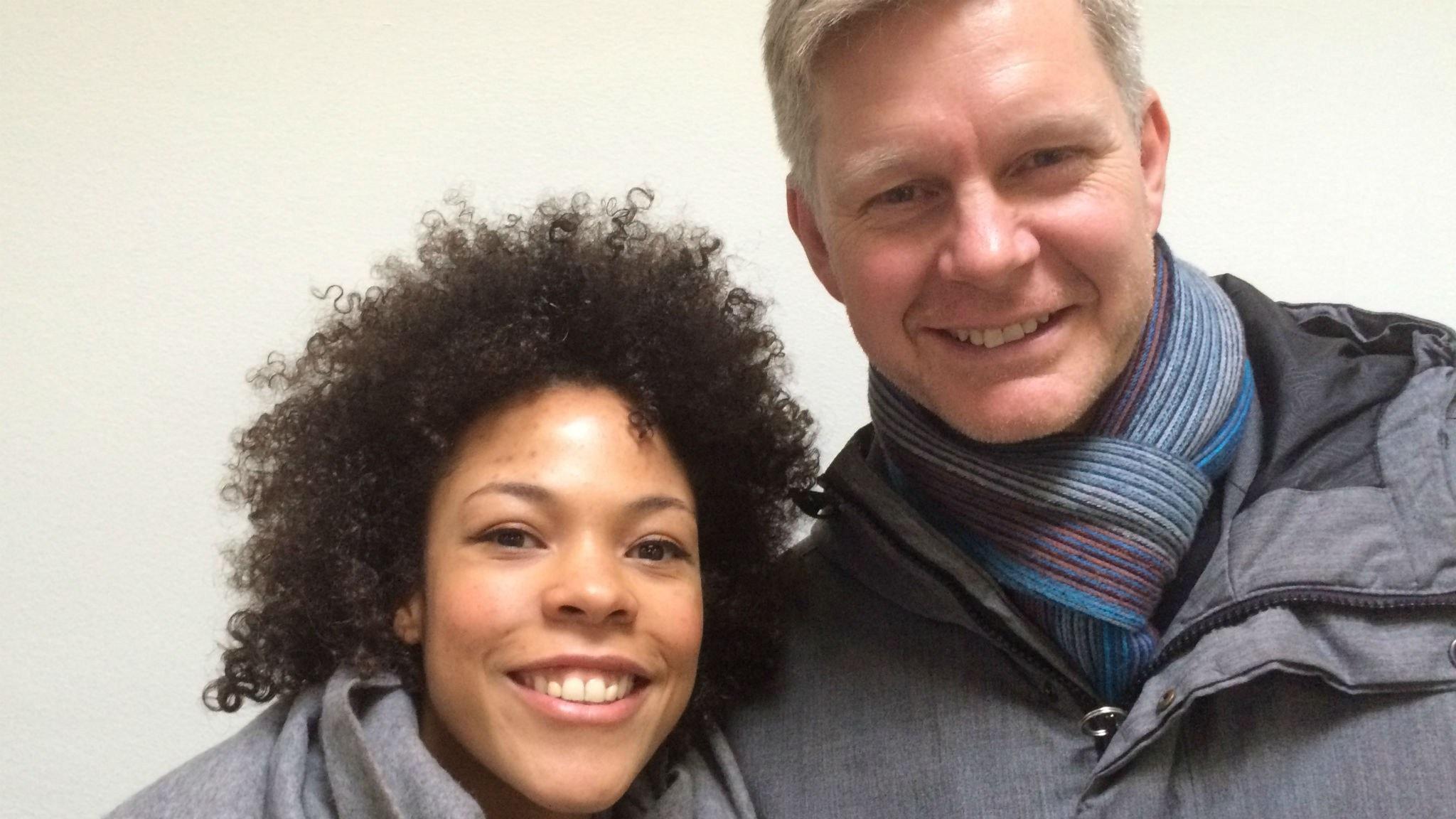 Azuka Nnamaka och Håkan Larsson. Foto: Peter Sandberg.