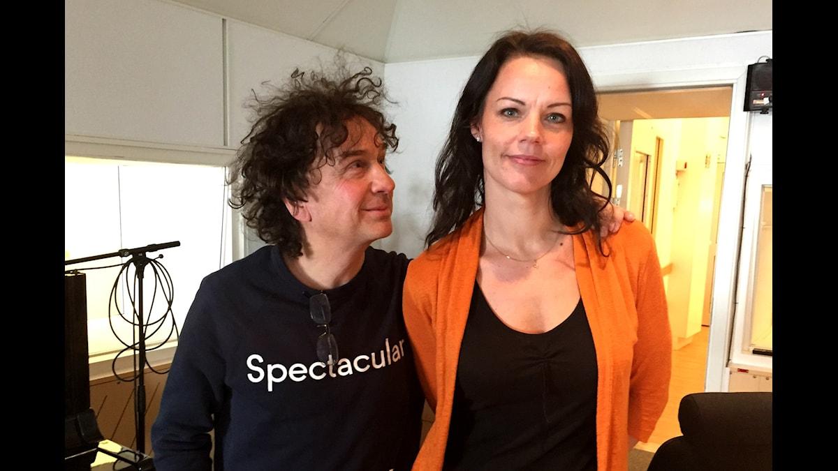 Magnus Uggla och Veronica Palm. Foto: Alice Lööf