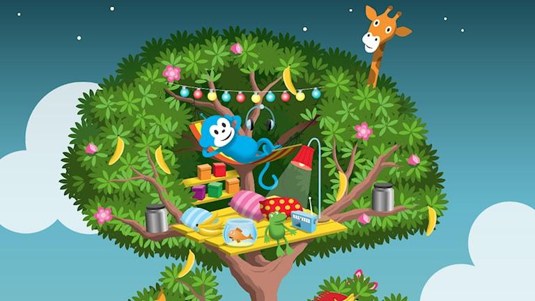 Programbild för Till appen: Sånger till Radioapans kojträd