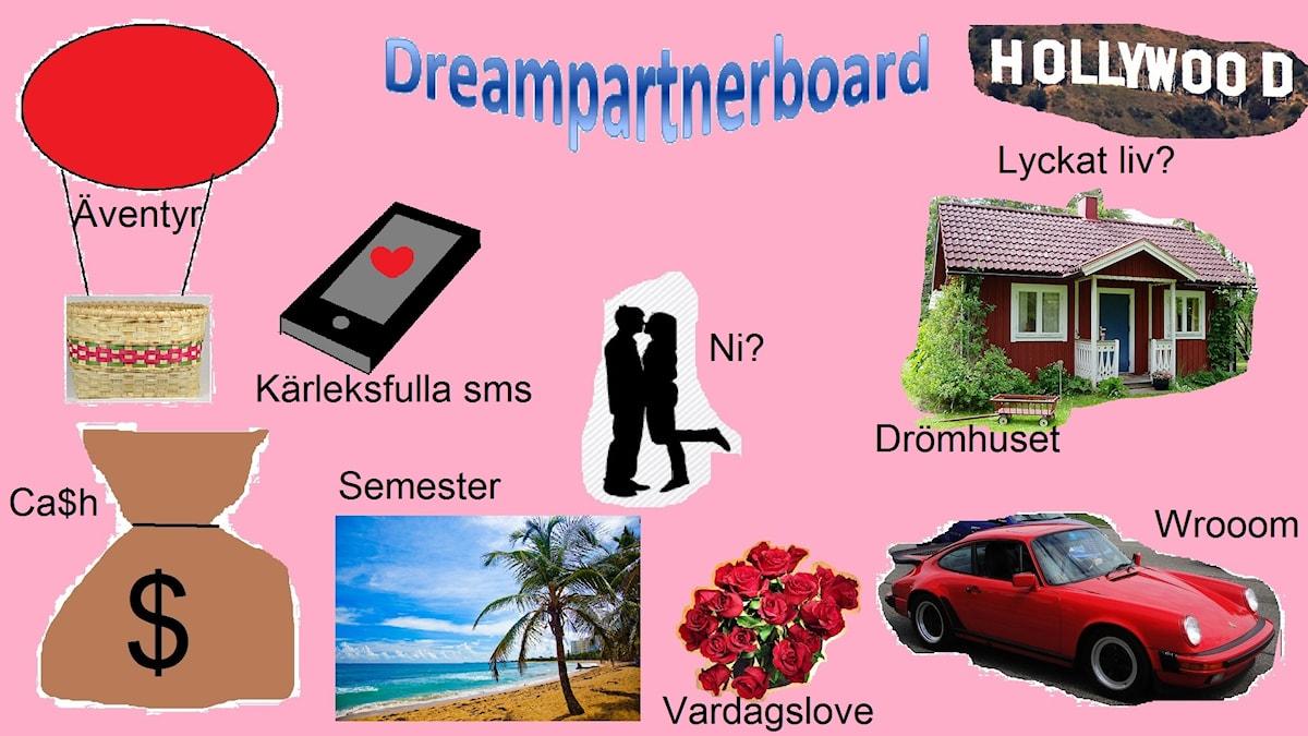 Dreampartnerboard Bild: Nathaniel Contardo/Sveriges Radio