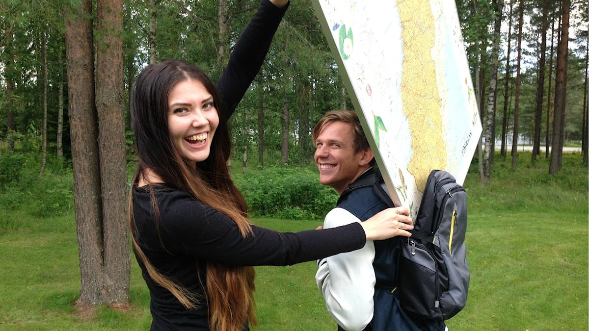 Sofia Johansson och Kristian Täljeblad Foto: Nathaniel Contardo/Sveriges Radio