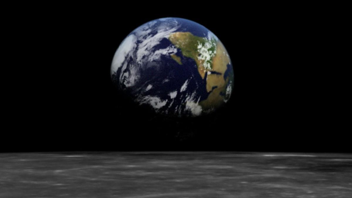 NASA Jorduppgång på månen