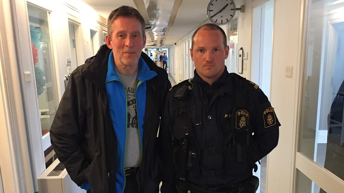 Lars-Göran Eriksson och Johan Eriksson. Foto: Gurgin Bakircioglu / Sveriges Radio.