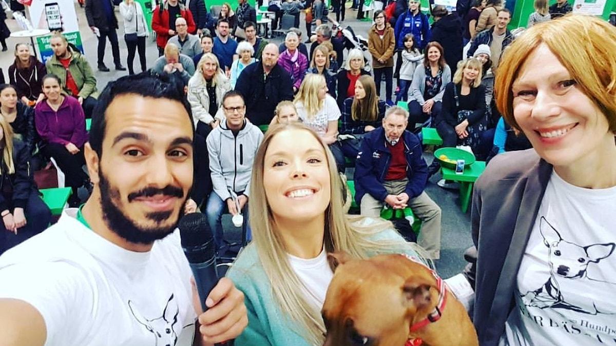 Gurgin, Maria Hedqvist och Eva Bodfäldt. Foto: Gurgin Bakircioglu / Sveriges Radio.