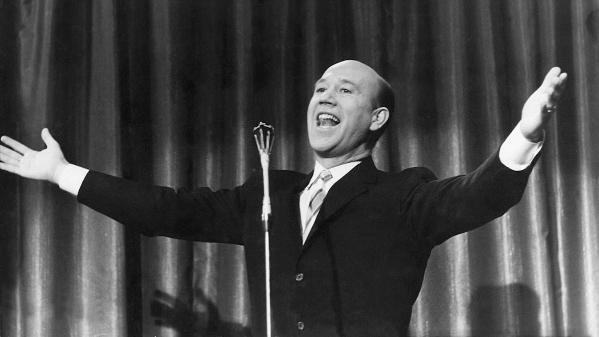 Lennart Hyland i Stora famnen 1959.