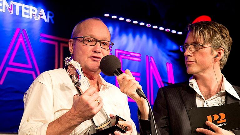 Nils Landgren fick hederspriset Guldkatten under P2 Jazzkatten 2015. Foto: Micke Grönberg/Sveriges Radio